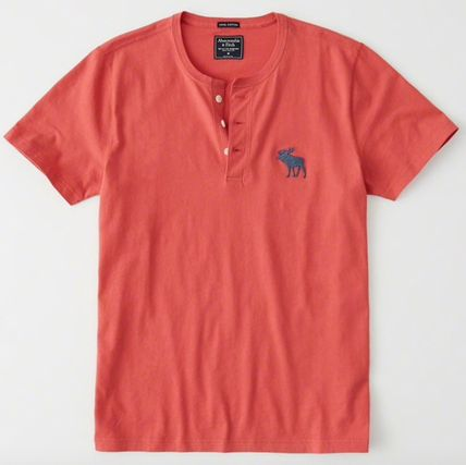Abercrombie & Fitch Tシャツ・カットソー Abercrombie&Fitch(アバクロ)アイコンヘンリーネック半袖Tシャツ(12)