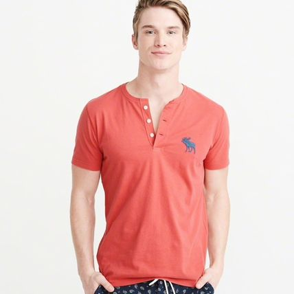 Abercrombie & Fitch Tシャツ・カットソー Abercrombie&Fitch(アバクロ)アイコンヘンリーネック半袖Tシャツ(13)