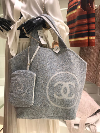 2018SS最新作★CHANEL★towel tote with detachable pouch 各色