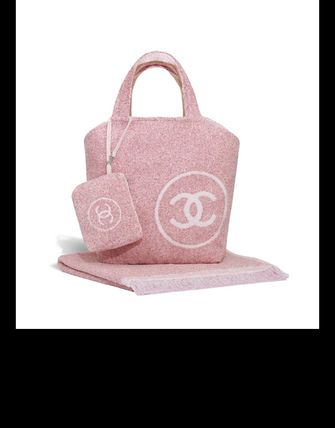 CHANEL トートバッグ 2018SS最新作★CHANEL★towel tote with detachable pouch 各色(7)