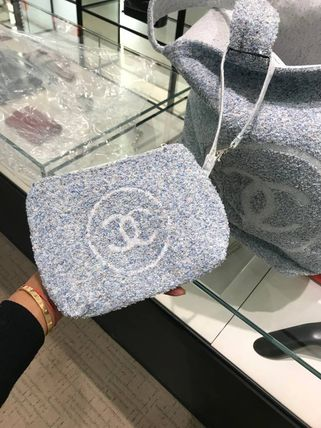 CHANEL トートバッグ 2018SS最新作★CHANEL★towel tote with detachable pouch 各色(8)