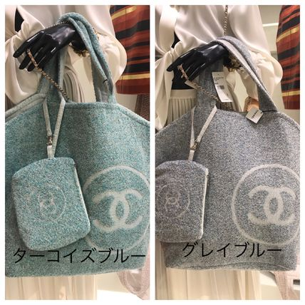 CHANEL トートバッグ 2018SS最新作★CHANEL★towel tote with detachable pouch 各色(9)