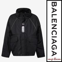 【国内発送】Balenciaga パーカー Black C Shape Parka Red Logo