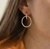 Maria Black☆NORMA MEDI HOOP EARRING - HIGH POLISHED / gold