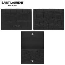 【正規品保証】SAINT LAURENT★18春夏★BUSINESS CARD CASE_BLK