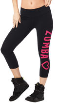 新作♪ズンバZumba Has My Heart Capri Leggings-Bold Black