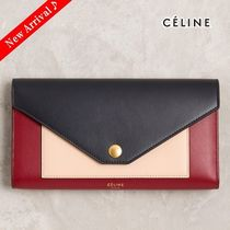 最新色♪大人気♡CELINE POCKET TRIFOLDED長財布,Dark Navy