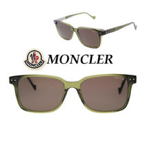 関税送料込☆MONCLER☆Light Green Frame Brown Lens サングラス