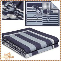 ★HERMES★《Couvertures Nouvelles》カシミヤ混合ブランケット
