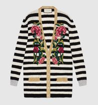 GUCCI グッチEmbroidered cashmere wool oversize cardigan