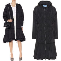 PR1000 NYLON TAFFETA COAT WITH TIERED DETAIL