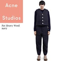 ACNE Pat heavy wool workwear chinos ウールワーキングチノパン
