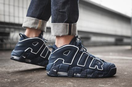 Nike キッズスニーカー 大人もOK★NIKE AIR MORE UPTEMPO モアテン オブシディアン(2)