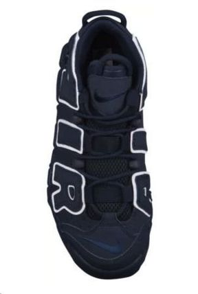 Nike キッズスニーカー 大人もOK★NIKE AIR MORE UPTEMPO モアテン オブシディアン(6)