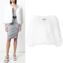 PR1007 CROPPED FEATHER JACKET
