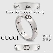 GUCCI日本完売size有♪BlindforLoveSilverRing5mmユニセックス