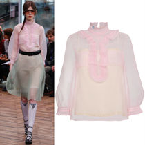 PR1020 LOOK13 CIGALINE BLOUSE WITH PLASTRON