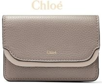 ★関税負担★CHLOE★TWO-TONE TEXTURED-LEATHER CARDHOLDER
