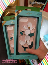 kate spade☆silicone magnolia iphone 7/8 Plus case立体的花柄