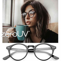 全4色*zeroUV*VINTAGE EUROPEAN CLEAR LENS SMALL ROUND GLASSES