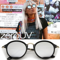 全6色zeroUV*STEAMPUNK DAPPER MIRRORED ROUND LENS SUNGLASSES