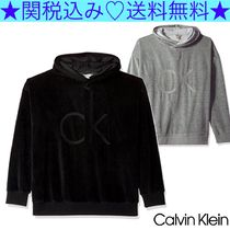 ★Calvin Klein Jeans★Cocoon Velour Crossover Hoodie★2色