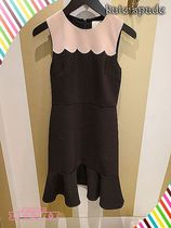 スカラップドレスkate spade☆SWAMPED SCALLOP SLEEVELESS DRESS