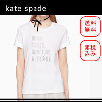 SALE!国内発送●kate spade●英字プリントTシャツ カットソー