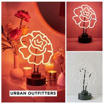 新作 Urban Outfitters☆Cabbage Rose Neon Sign Table Lamp☆