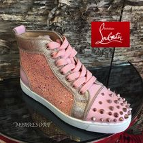 18SS 新作 ☆ ルブタン ☆ Lou Degra Spikes PINK ☆スニーカー