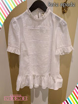 バタフライブラウスkate spade☆butterfly clipped flounce top