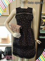 水玉ワンピース☆kate spade☆SWAMPED SCATTER DOT MIKADO DRESS