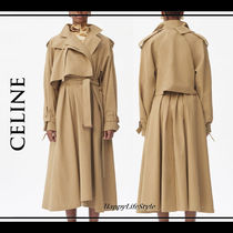 LOOK10◇Brushed Cotton トレンチコート◇CELINE