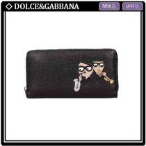 【DOLCE&GABBANA】PATCH ZIP-ROUND 長財布 BLACK BP1672 関/送込