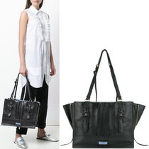 PR1028 ETIQUETTE TOTE BAG WITH BUCKLE DETAIL
