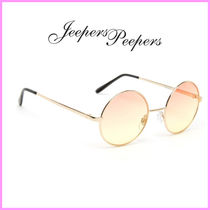 Jeepers Peepers(ジーパーズ ピーパーズ) サングラス 関送込☆Jeepers Peepers☆クリアピンクラウンドサングラス♪