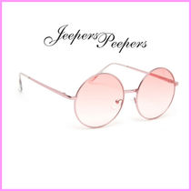 Jeepers Peepers(ジーパーズ ピーパーズ) サングラス 関送込☆Jeepers Peepers☆ラウンドクリアピンクサングラス♪