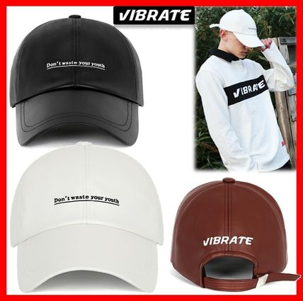 VIBRATE キャップ 韓国の人気【VIBRATE】★ D.W.Y.Y LEATHER BALL CAP 3色