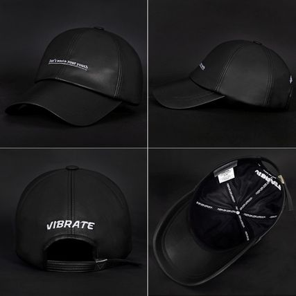 VIBRATE キャップ 韓国の人気【VIBRATE】★ D.W.Y.Y LEATHER BALL CAP 3色(4)