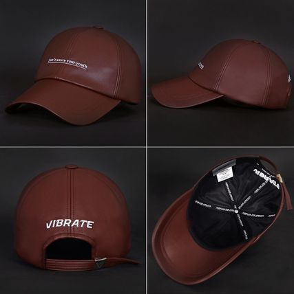 VIBRATE キャップ 韓国の人気【VIBRATE】★ D.W.Y.Y LEATHER BALL CAP 3色(8)