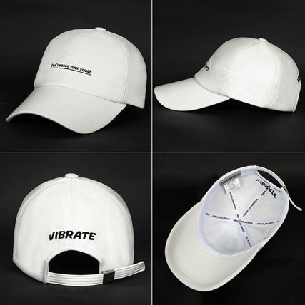 VIBRATE キャップ 韓国の人気【VIBRATE】★ D.W.Y.Y LEATHER BALL CAP 3色(13)
