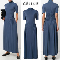 【18SS】大注目!!★CELINE★high neck long dress