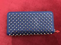 ★NEW★【ルブタン】Panettone Calf Spikes (China Blue / Gold)