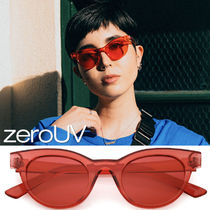 zeroUV(ゼロユーブイ) サングラス 全5色*zeroUV*RETRO TRANSPARENT COLOR FLAT LENS CAT EYE SUN