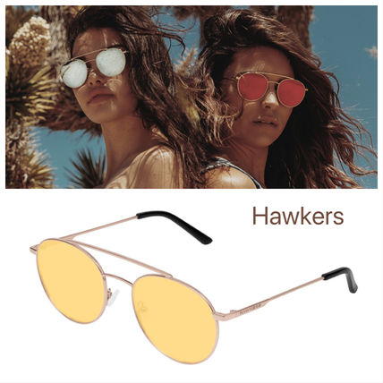 Hawkers サングラス Hawkers 新作/GOLD /YELLOW HILLS