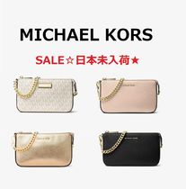 ◆SALE◆MK◆Mercer Metallic Leather Chain Wallet