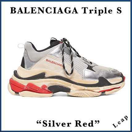 "BALENCIAGA スニーカー 【BALENCIAGA】入手困難 ☆ Triple S Trainer ""Silver Red"""