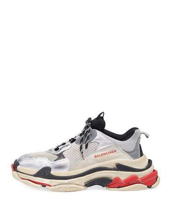 "BALENCIAGA スニーカー 【BALENCIAGA】入手困難 ☆ Triple S Trainer ""Silver Red""(2)"