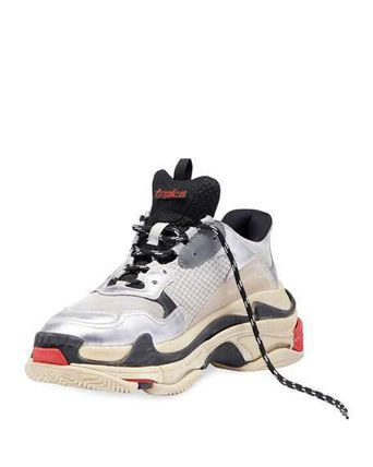 "BALENCIAGA スニーカー 【BALENCIAGA】入手困難 ☆ Triple S Trainer ""Silver Red""(4)"