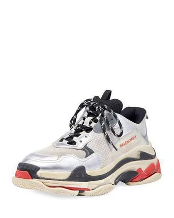 "BALENCIAGA スニーカー 【BALENCIAGA】入手困難 ☆ Triple S Trainer ""Silver Red""(5)"